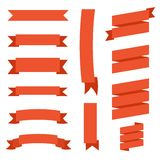 Set of vector ribbons Stock Photography
