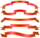 Set of vector ribbons and scrolls Royalty Free Stock Image