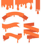 Set of vector ribbons Stock Photo