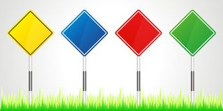 Set of vector road signs Stock Images