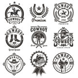 Set of vector rodeo logos Stock Photography