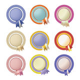 Set of vector rosettes Stock Image