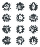 Set of vector round badges space. Royalty Free Stock Image