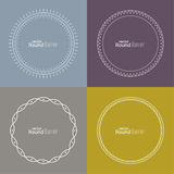 Set of vector round banners Royalty Free Stock Images