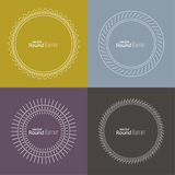 Set of vector round banners Royalty Free Stock Photo