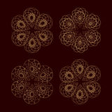 Set of vector round design elements. Vector round lace elements set for your design Royalty Free Stock Photography