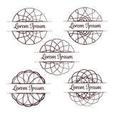 Set of vector round design elements. Vector round elements with a place for your text Royalty Free Stock Photography