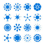 Set of vector round design elements. Vector round elements set for your design Royalty Free Stock Photo