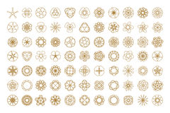 Set of vector round design elements. 77 vector round elements set for your design Royalty Free Stock Photography