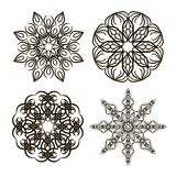 Set vector round ornament Royalty Free Stock Photography