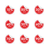 Set of vector round stickers Royalty Free Stock Photo