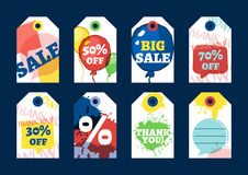 Set of vector sale or gift tags design. Stock Images