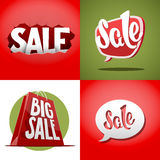 Set of vector sale labels Stock Photo