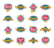 Set of Vector Sales Labels and Sticker Graphics Royalty Free Stock Image