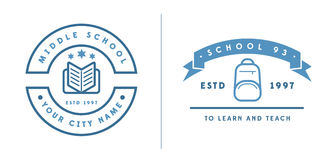Set of Vector School or College Identity Elements can be used as Royalty Free Stock Photos