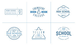 Set of Vector School or College Identity Elements can be used as Royalty Free Stock Photo