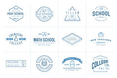 Set of Vector School or College Identity Elements can be used as Stock Photos