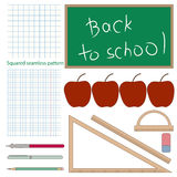 Set of vector school objects. Royalty Free Stock Images