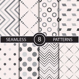Set of vector seamless abstract pattern Stock Images