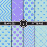 Set of vector seamless abstract pattern Royalty Free Stock Image