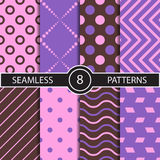 Set of vector seamless abstract pattern Stock Photo