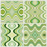 Set of Vector Seamless Abstract Wavy Backgrounds Royalty Free Stock Images