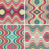 Set of Vector Seamless Abstract Wavy Backgrounds Royalty Free Stock Photo