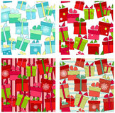 Set of vector seamless background Stock Images