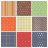 Set of vector seamless backgrounds. Royalty Free Stock Image