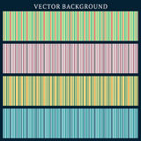 Set of Vector Seamless Backgrounds. Stripped Background Stock Image