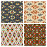 Set of vector seamless colorful ethnic tribal pattern. Stock Photography