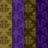 Set vector seamless on damask ornament Royalty Free Stock Images