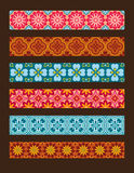 Set of vector seamless floral ornaments Stock Photos