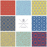Set of vector seamless flourish patterns. Vintage decorative  Stock Photography