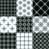 Set of vector seamless geometrical patterns. Collection of graphical vector seamless patterns. Abstract geometric wallpapers. Ornamental decorative background Stock Photography