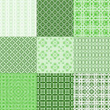 Set of vector seamless geometrical patterns Royalty Free Stock Image