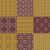 Set of vector seamless geometrical patterns. Vintage textures. Decorative background for cards, invitations, web design Royalty Free Stock Photos