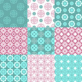 Set of vector seamless geometrical patterns. Vintage textures. Decorative background for cards, invitations, web design Royalty Free Stock Photography