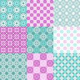 Set of vector seamless geometrical patterns. Vintage textures. Decorative background for cards, invitations, web design Stock Photography