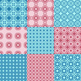 Set of vector seamless geometrical patterns Royalty Free Stock Images