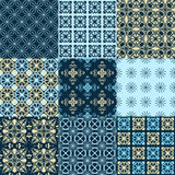 Set of vector seamless geometrical patterns. Vintage textures. Decorative background for cards, invitations, web design Stock Photo