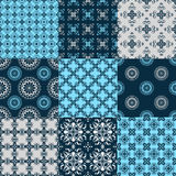 Set of vector seamless geometrical patterns. Vintage textures. Decorative background for cards, invitations, web design Royalty Free Stock Photo