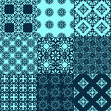 Set of vector seamless geometrical patterns. Vintage textures. Decorative background for cards, invitations, web design Royalty Free Stock Images