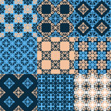 Set of vector seamless geometrical patterns. Royalty Free Stock Image