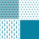 Set of vector seamless male patterns vector illustration