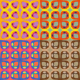 Set of vector seamless pattern Stock Photo
