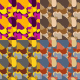 Set of vector seamless pattern Stock Photography