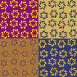 Set of vector seamless pattern Royalty Free Stock Image