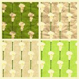 Set of vector seamless pattern with calla Stock Photos