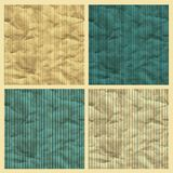Set of vector seamless pattern, craft paper Stock Photo